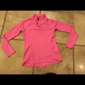 Under armor half zip fitted layering top